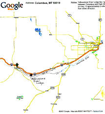Yellowstone Lodging Map Yellowstone River Lodge Contact Us Directions