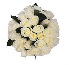 bouquet delivery 50 farm fresh white roses bouquet by justfreshroses