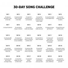 Challenge Rate 30 Day Song Challenge Rate Your