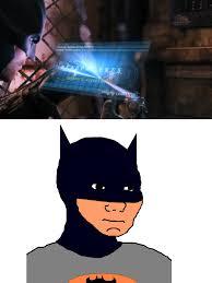 Batman Face Meme - feels batman gaming