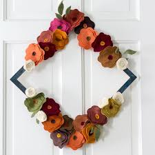flower wreath felt flower wreath tutorial for fall