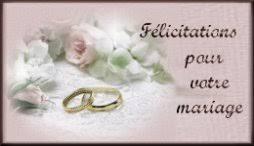 felicitations pour un mariage pour votre mariage