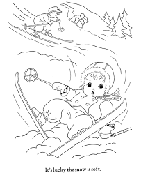 winter ski coloring pages hiver activities winter