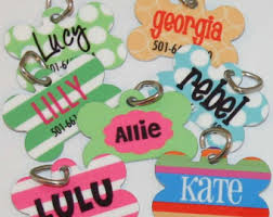 personalized tag pet id tag custom pet name tag