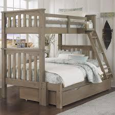 NE Kids Highlands Mission Style Twin Over Full Harper Bunk Bed - Trundle bunk beds