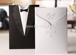 wedding card to from groom wholesale and groom tuxedo wedding invitations card