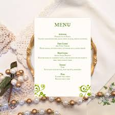 diy wedding menu template ireland elegant script and design