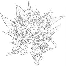 coloring pages tinkerbell friends funycoloring