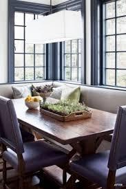 breakfast area breakfast banquette furniture gray trim and sash breakfast room