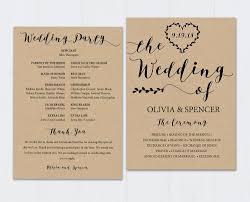 Fun Wedding Program Templates Best 25 Wedding Program Templates Ideas On Pinterest Fan