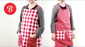 diy reversible apron sew it yourself youtube