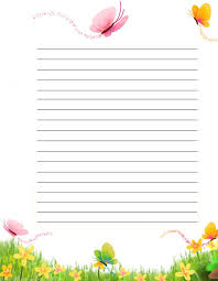 printable lined paper with dotted midline 110 best printable lined writing paper images on pinterest writing