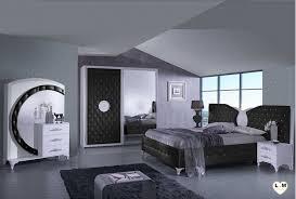 chambre à coucher blanc et noir design lignemeuble com