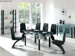 Glass Top Rectangular Dining Table Dining Room 30 Elegant Violet High Gloss Sideboard Modern