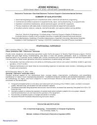 technical resume templates sle resume for electronics technician inspirational e resume