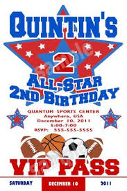 sports birthday party ticket style invitations by thatpartygirl