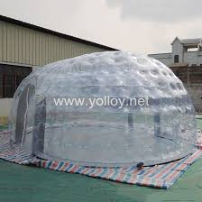 Transparent Tent Yolloy Air Tight Inflatable Transparent Ellipse Tent For Sale
