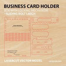 wooden box with sliding bolt latch vector plan by cartonus