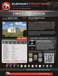 Building A Two Car Garage Custom Commercial Two Car Garage 24 U0027 X 51 U0027 X 12 U0027 Two Car Garages