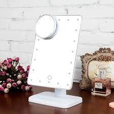 Makeup Mirrors Lighted Touch 10x Magnifying 20 Led Lighted Makeup Mirror Cosmetic Vanity