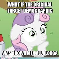 Bronies Meme - sudden realization sweetie belle my little brony my little pony