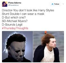 Michael Myers Memes - michael myers comparison flying harry styles know your meme