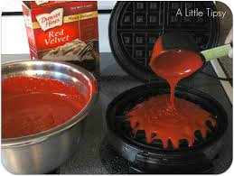 valentines recipe red velvet waffles valentines recipes red