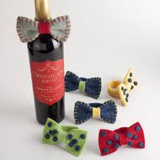 wine bottle bows wine bottle bow tie set of 2 world market