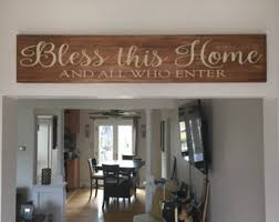 Christian Home Decor Bless This Home Etsy