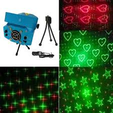 green laser light projector four patterns mini red green laser light moving dj disco party