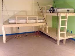 Diy Bunk Bed Build Hanging Loft Bunk Beds Diy Project The Homestead Survival