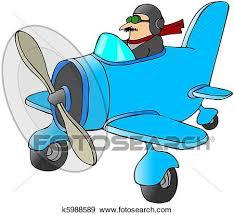 aereo clipart archivio illustrazioni pilota in uno piccolo aereo k5988589