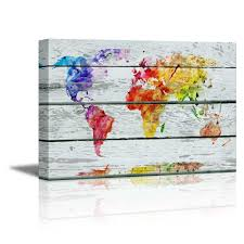 World Map Art Print by Wall26 Com Art Prints Framed Art Canvas Prints Greeting