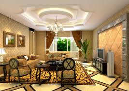 minimalist european style living room with elegant wallpaper
