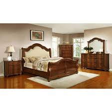 sleigh bed sets king king size sleigh bedroom set in brown cherry