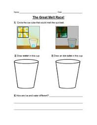 matter mixup writing solids liquids and gases physical