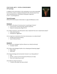 study guide unit v u2013 states of consciousness ap