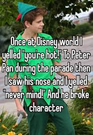 Disney World Meme - once at disney world i yelled you re hot to peter pan during