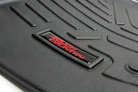 floor mats heavy duty fitted floor mat set front rear for 2014 2018