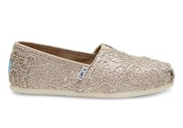 rose gold crochet glitter women u0027s classics toms
