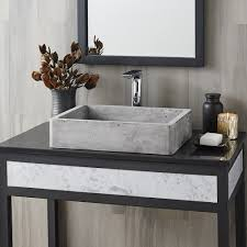 nipomo rectangular nativestone bathroom sink native trails