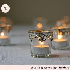 vintage tea light holders silver and glass tea light holders the wedding of my dreams blog
