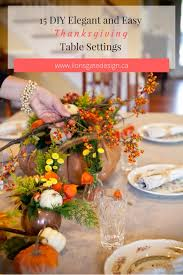 15 diy and easy thanksgiving table settings lionsgate design