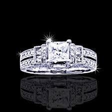 unique princess cut engagement rings 1 50 tcw unique princess cut engagement ring jenr101 5 290 00