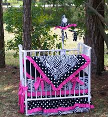 Mini Crib Fitted Sheet by New Zebra Polka Dot Mini Crib Or Porta Crib Bedding Set