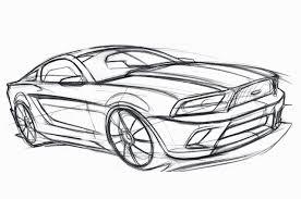 cozy design mustang outline horse rearing decal vector logo car