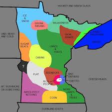 Minnesota Memes - vh funny minnesota state map what minnesota is really like