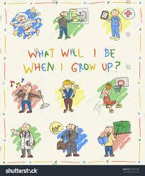kindergarten children color doodle drawing cartoon stock vector