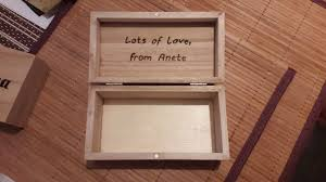 Personalized Wooden Boxes Hand Engraved Personalized Wooden Box U2013 Edina U0027s Reflections