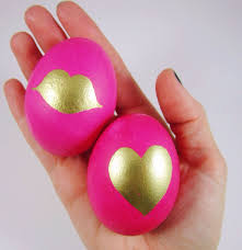 pink easter eggs diy gold painted easter eggs gold standard workshop
